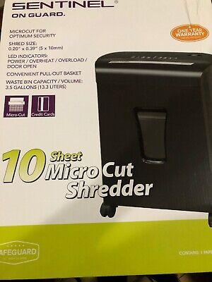 Sentinel 10 Sheet Micro Cut Shredder Fm101p