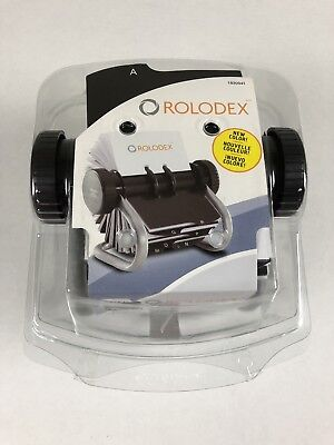 New Rolodex Open Rotary Business Card File Index Tabs 200 Sleeved Cards