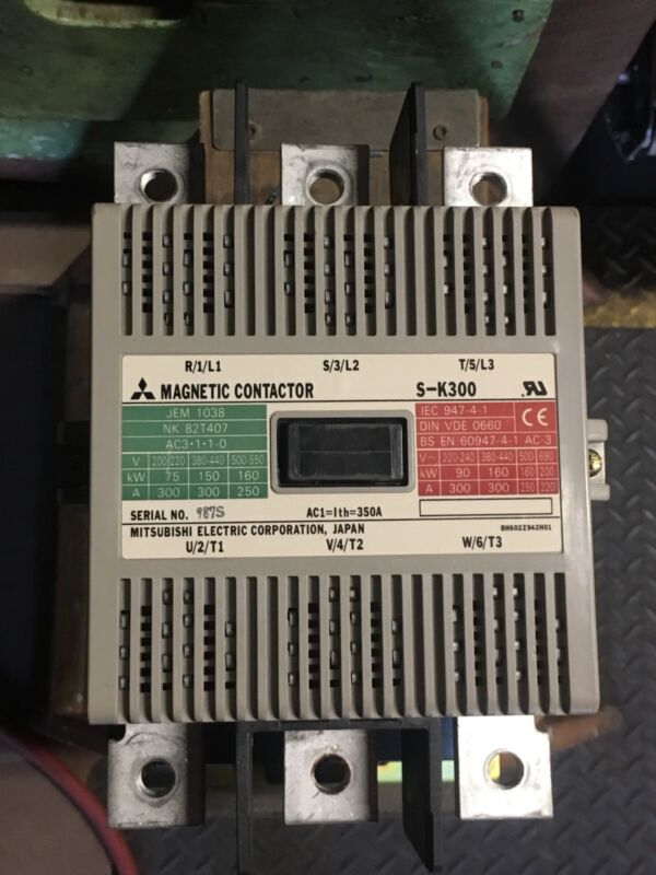 MITSUBISHI ELECTRIC S-K300 USED MAGNETIC CONTACTOR SK300