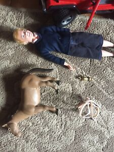 HORSE AND MALE BARBIE SET