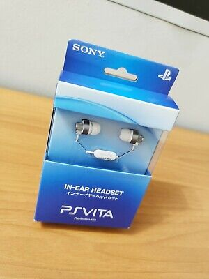 BRAND NEW SONY PLAYSTATION PS VITA IN-EAR HEADSET CERAMIC WHITE PCH-ZHS1 JYW...