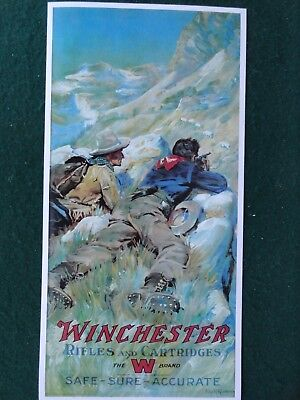 Winchester Advertising Poster Firearms & Ammunition, Red W, Philip Goodwin Art