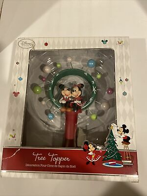 Disney Store Mickey And Minnie Mouse Christmas Tree Topper
