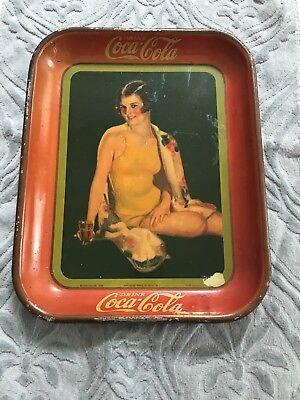 Original 1929 Fountain Sales Coca Cola Serving Tray