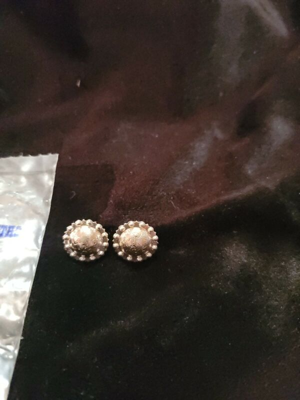 Montana Silver Berry Conchos 1/4 in. For Reins or Headstall. New 1 pair.