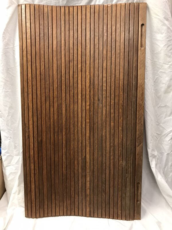 Tambour Door Material Vintage Used Oak Cabinet Rolltop Desk Hoosier Salvage