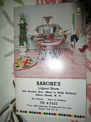 1963 VTG BARONE'S LIQUOR STORE CATALOG~SILVER CREEK NY~50p~GIFTS-RECIPES~BARWARE