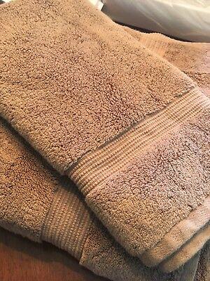 Hotel Collection Turkish Bath Sheet & Hand Towel - Mocha Color. ($90)