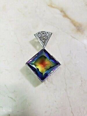 Traveler's Journey 12.52ct Rainbow Quartz Sterling Silver Pendant HSN $130