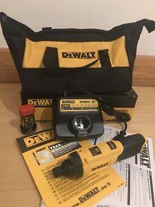DEWALT DCF682G1 7.2V Cordless Motion Activated Inline Professional Screwdriver