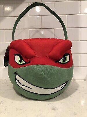 Raphael TMNT Teenage Mutant Ninja Turtle Halloween Easter Plush Basket Bucket](Ninja Turtle Halloween Bucket)