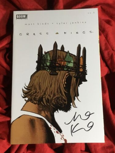 GRASS KINGS #5~VARIANT~HAND-SIGNED BY MATT KINDT~NEW TV SHOW COMING~BOOM!~B
