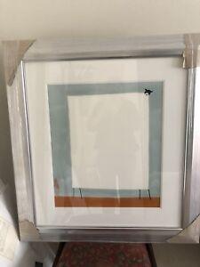 """Unique - Square Sheep - Mackenzie Thorpe *Original*  - """"On The Ground"""" Framed"""