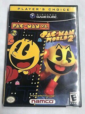 Nintendo Gamecube Pac-Man vs. / Pac-Man World 2  Tested Works Great
