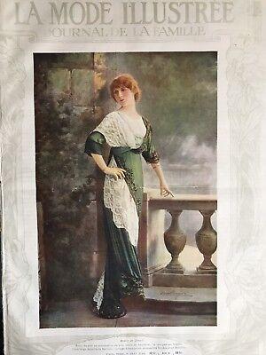 Edwardian MODE ILLUSTREE Oct 8 & 15,1911+multi sewing PATTERN sheet