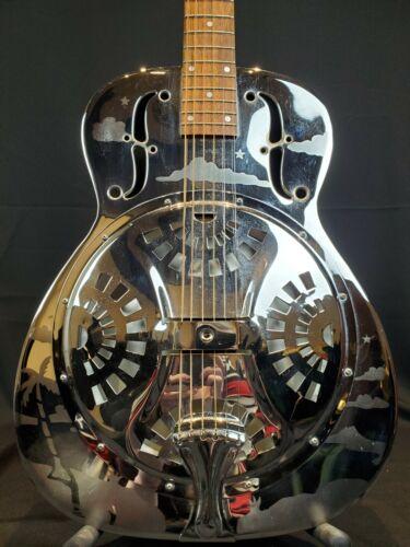 Vintage 1986 Dobro Hawaiian Resonator Guitar - Round Neck with Pickup