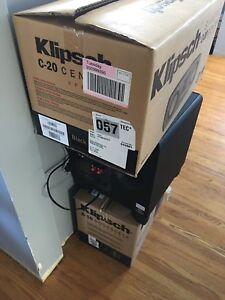 Klipsch surround sound speakers excellent condition