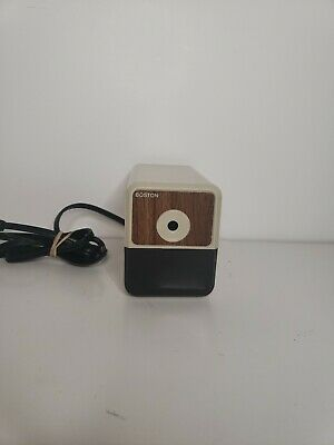 Vintage Boston Model 18 Electric Pencil Sharpener 296a Wood Grain Works Great