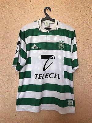 VINTAGE SPORTING LISBON PORTUGAL 1995/1996 HOME FOOTBALL SHIRT JERSEY SAILLEV image