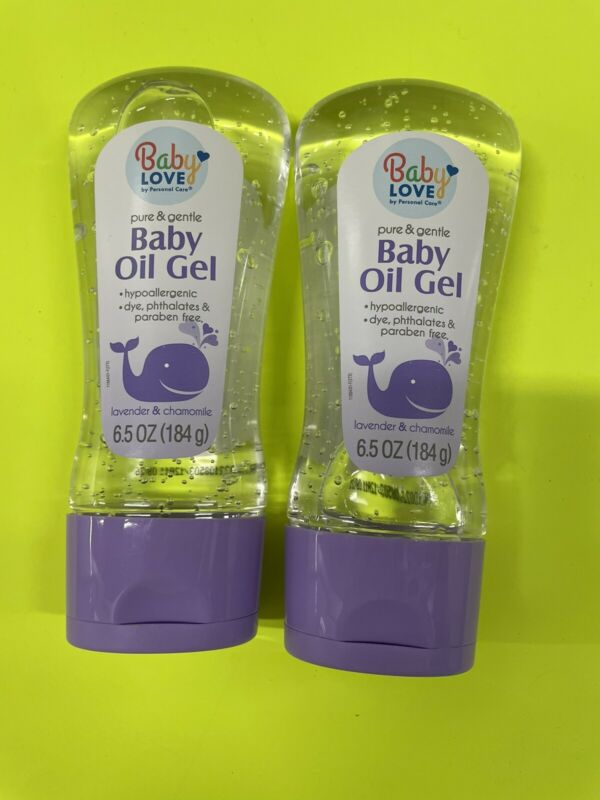 Baby Love Baby Oil Gel,Pure and Gentle. dye,phthalates, paraben Free 6.5 Oz 🌟