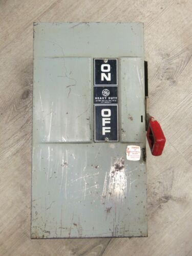 Nice GE TH3362 60 Amp Disconnect Safety Switch 600 Volt Fusible Type 1
