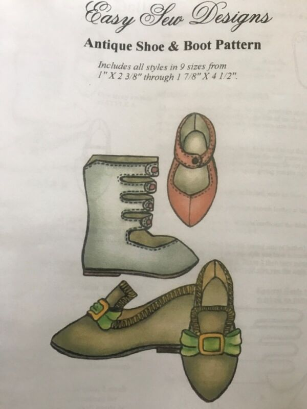 Antique French German Bru Jumeau doll Shoes Boots pattern 9 dif sizes