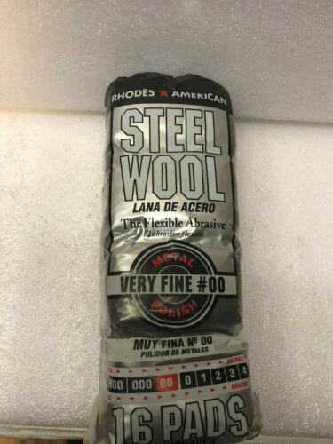 RHODES AMERICAN STEEL WOOL - VERY FINE #00 - 16/PK
