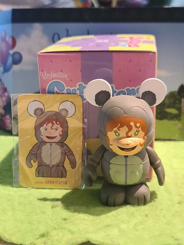 """DISNEY Vinylmation 3"""" Park Set 2 Cutesters Too with Box and Card Squirrel Kid"""