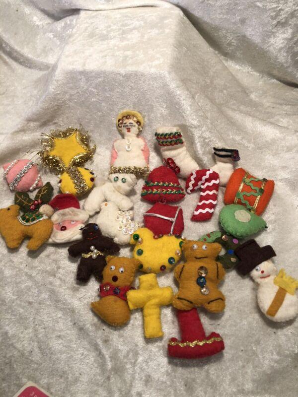 Vintage Miniature Felt Christmas Advent Pieces Or Christmas Ornaments