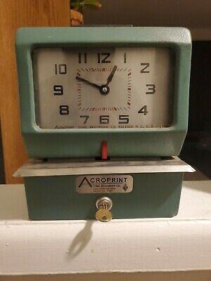 Acroprint Time Punch Clock Recorder Model 125nr4 Serial Number 282888pu Used