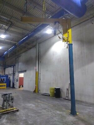 Coffing 2 Ton Floor Machine Or Post Mount Jib Crane Hoist 230-460v 3 Ph