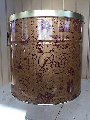Golden Harvest Christmas Popcorn Tin with handles, Kansas City - Halloween Kansas City