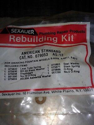 As-12 American Standard Sexauer Rebuild Kit. Drinking Fountain Plumbing Parts