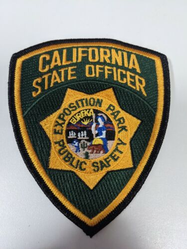 California State Officer Exposition Park Public Safety Police Patch