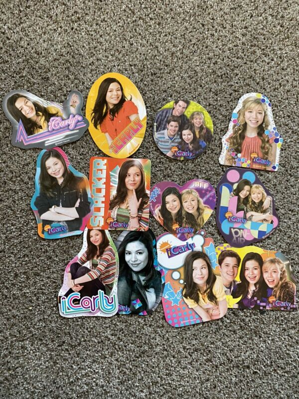 ICARLY COMPLETE STICKER SET! 12 FULL COLOR STICKERS!! 2-3 INCHES!! NICKELODEON!