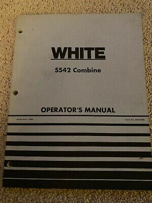 White Oliver 5542 Combine Operators Manual 1980 Farm Equipment