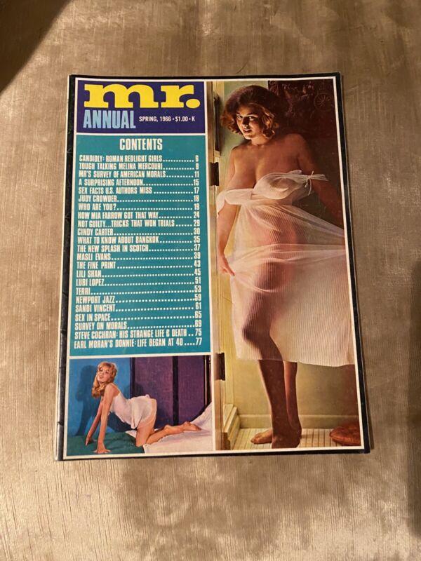 Mr. Annual Magazine Vintage Rare Spring 1966 Centerfold Lili Shan