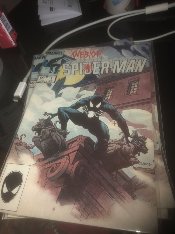 Web of Spiderman #1 VF/ Or Better CLASSIC CHARLES VESS COVER!