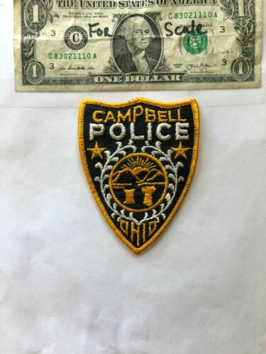 Rare Campbell Ohio Police Patch un-sewn mint shape