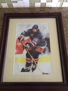 Framed Wayne Gretzky Lithograph