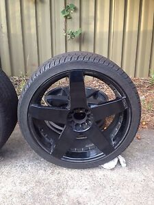 """5 Ford 20"""" KMC Alloy Wheels 4 Tyres 99% Like New Thornleigh Hornsby Area Preview"""