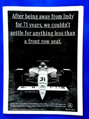 """1994 Mercedes Racing Original Print Ad 8.5 x 11"""""""