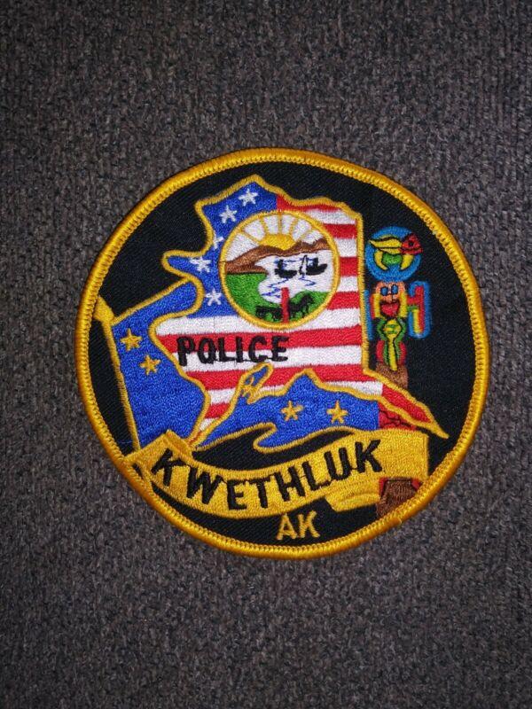 ALASKA AK KWETHLUK POLICE - OLDER PATCH