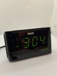 RCA Digital Alarm Clock Radio AM/FM Tested Used Multi Time Zones