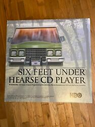 HBO Six Feet Under Hearse CD Player Radio Alarm Clock RARE PROMO Mint! Rare!