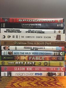 DVDs ! South Park, Spider-Man, Into the wild + more!