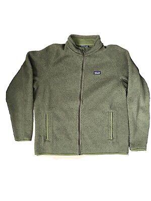 Mens PATAGONIA Green Full Zip BETTER SWEATER Fleece Jacket SIZE XL