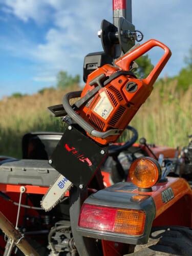 Tractor Chainsaw Rack for ROPS fits:Kubota, New Holland, John Deere P/N: 14217