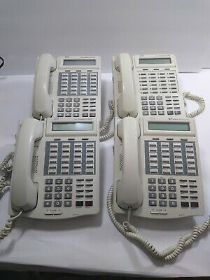 Lot Of 4 Vodavi 3515-71 Starplus Sts Off White Ivory 24 Button Office Phones