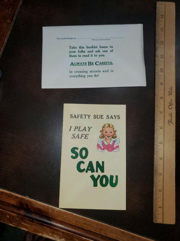 1951 Sanford NC Coca-Cola Safety Sue Booklet Pamphlet Advertising Book Vntg NOS